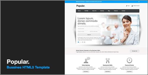 Popular - Responsive HTML5 Theme