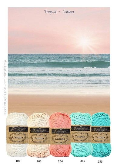 Kleurenpallet Catona - Kleur Inspiratie - Tropical HobbyVision- (web)winkel voor scrappen, kaarten en meer!