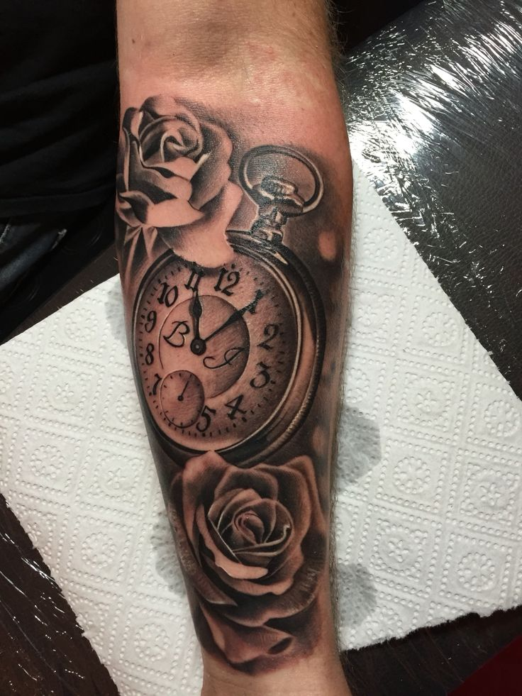 Rose tattoo pocket watch