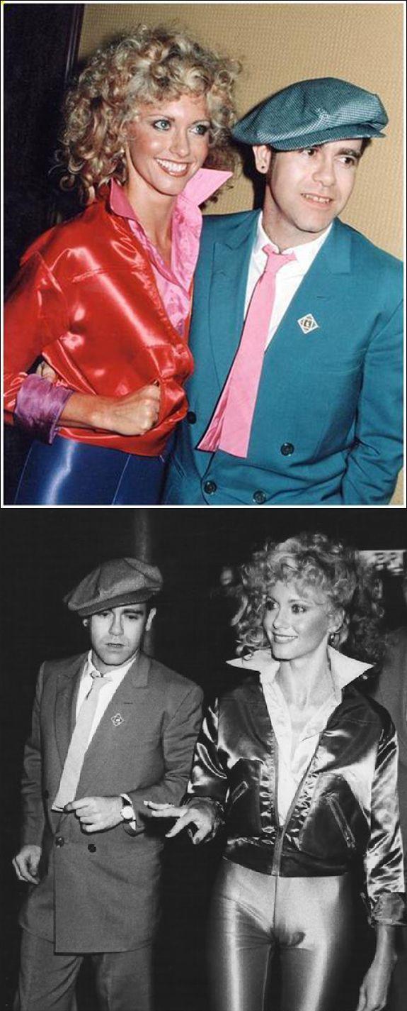 Olivia Newton-John & Elton John at Studio 54