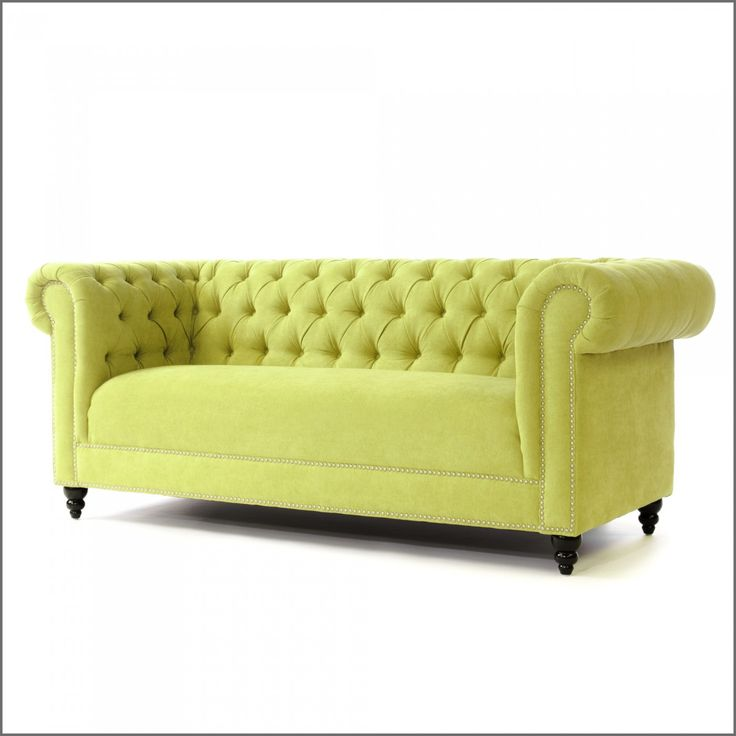 Evoking The Gentlemanu0027s Club Tradition, Our Chesterfield Translates Into A  Modern Sophistication With A Striking Yellow Green Velvet Upholstery.