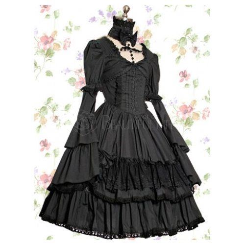 Gothic Fashion gothic lolita.  This looks like Erza's gothic Lolita dress from Fairy Tail