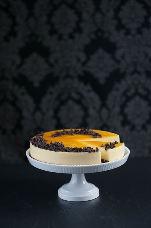 where love lies – passion fruit mousse cake