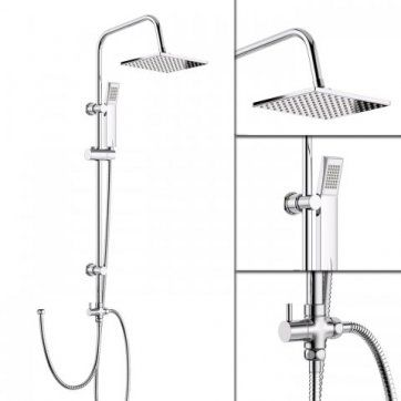 200mm Square Head With Handheld [PT-SP5106] - £99.99 : Platinum Taps & Bathrooms