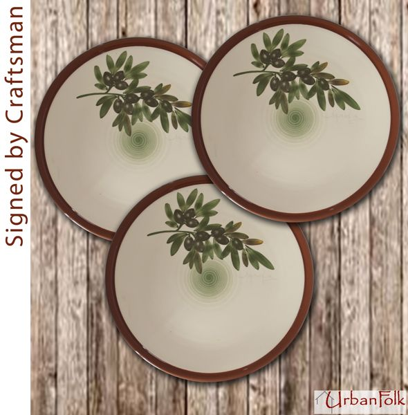 Rustic Mediterranean Country Style Handmade ceramic dinner plates with hand-painted Olives! & 99 best Mediterranean Dinnerware - Olives images on Pinterest ...