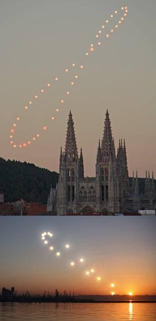 ¿Sabes lo que es un analema? Cuando fotografías el Sol desde el mismo sitio y a la misma hora todos los días del año, consigues representar una especie de 8 que describe la posición del astro rey con respecto a la Tierra.