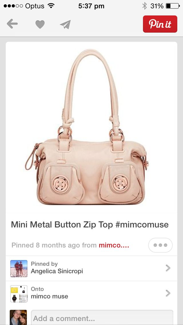 Mimco button bag
