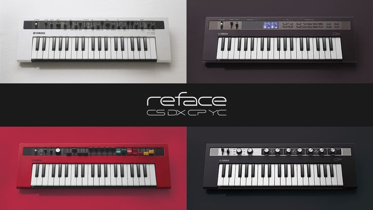 For keyboardists, music creators and sound designers  – reface Mobile Mini Keyboards are reimagined interfaces of classic Yamaha keyboard