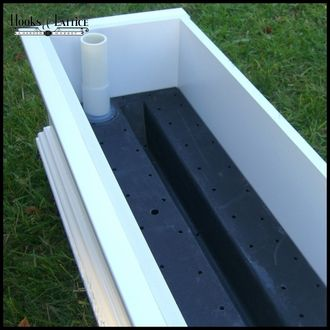 This is a cool idea! I have tried planter boxes in the past because they are so cute but they dry out within one day in the hot sun.  (Heaven forbid you leave town for a few days!) You place one of these self watering reservoirs in the bottom of your hanging planter box and it keeps it moist much longer. I'm going to try this.