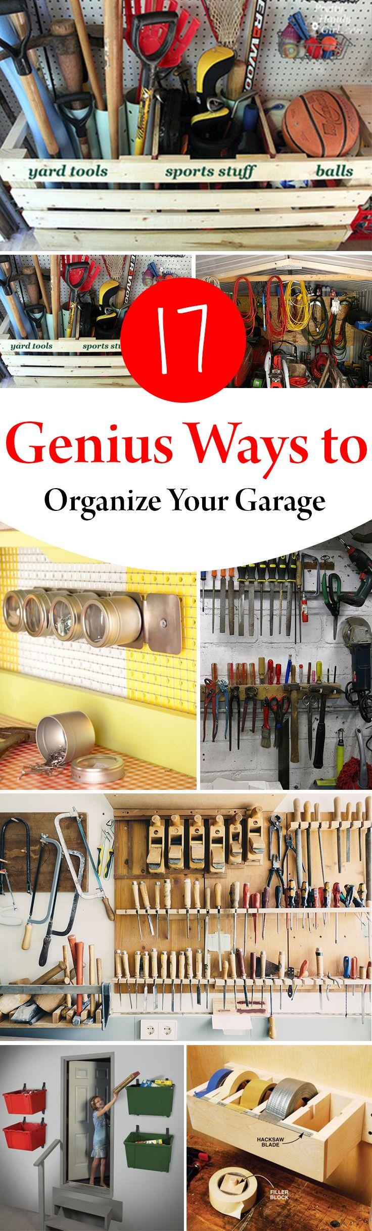 17 Genius Ways To Organize Your Garage