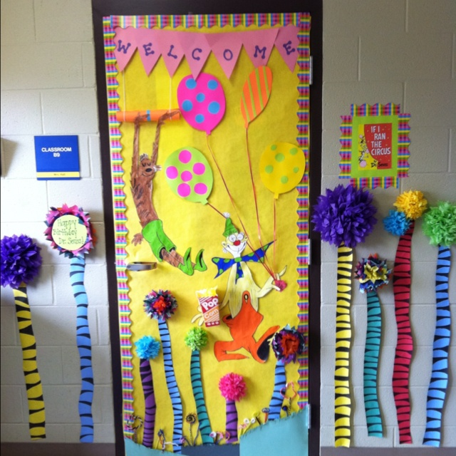 Dr Seuss Quot If I Ran The Circus Quot Classroom Door Dr Seuss