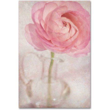 Trademark Fine Art 'Single Rose Pink Flower' Canvas Art by Cora Niele, Size: 30 x 47, Multicolor