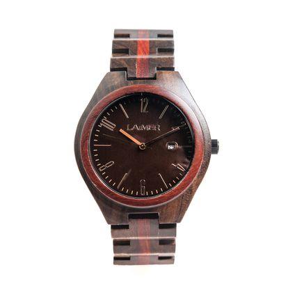 Armband-Uhr aus Sandelholz
