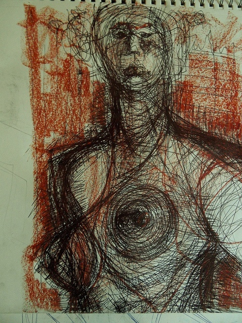 30 minute exploration drawing from a model by Kat Ostrow
