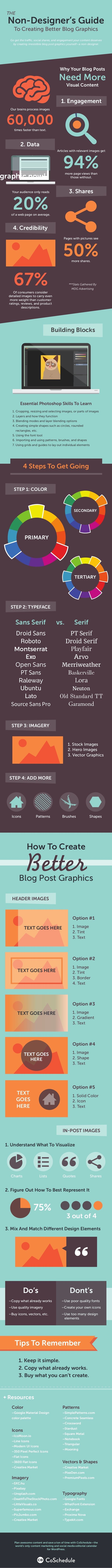 Graphic Design Tips for Bloggers: How To Create Images That Boost Blog Post Shares [Infographic]