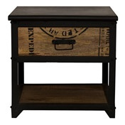 Cargo Bedside Table with Drawer