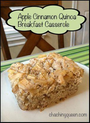 Apple Cinnamon Quinoa Breakfast Casserole Recipe – Easy Make Ahead ...