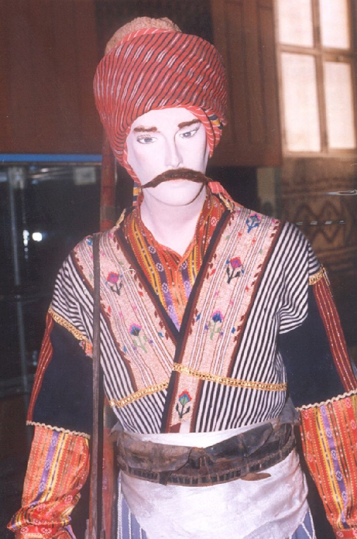 The traditional costume of the people's militia of K.Maraş.  Clothing style: ca. 1920.