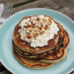 power pancakes med kvarg och mandelmjöl