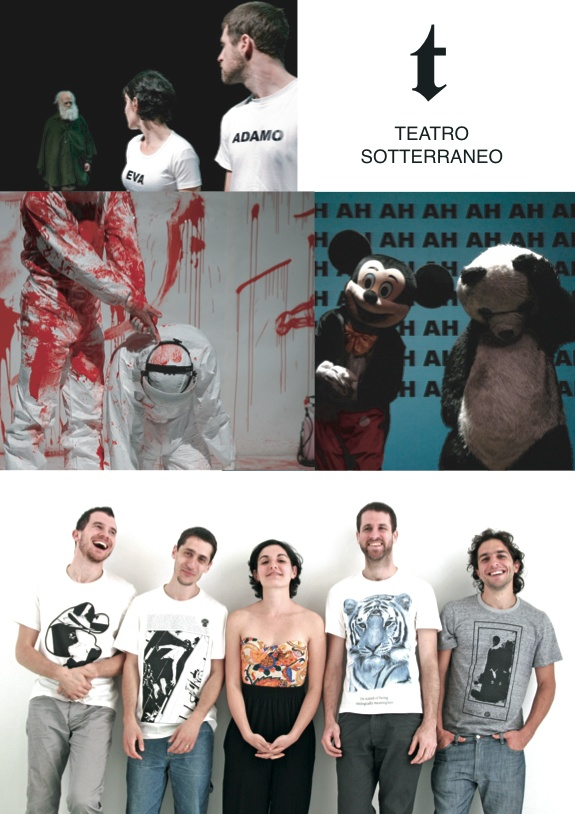 Teatro Sotterraneo was set up in autumn 2004 for the 11/10 in apnea project, a project awarding the Generazione Premio Scenario 2005.  In the following years, Teatro Sotterraneo produces: Post-it (2007), La Cosa 1 (2008) and Dittico sulla specie (2009-2010) made up by Dies irae _ 5 episodi intorno alla fine della specie and L'origine delle specie. Since 2008, Teatro Sotterraneo is part of the Fies Factory One project promoted by Centrale Fies; in 2008-2009 it was also supported by the ETI…