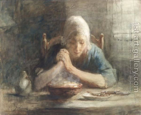 Saying Grace by Jozef Israels