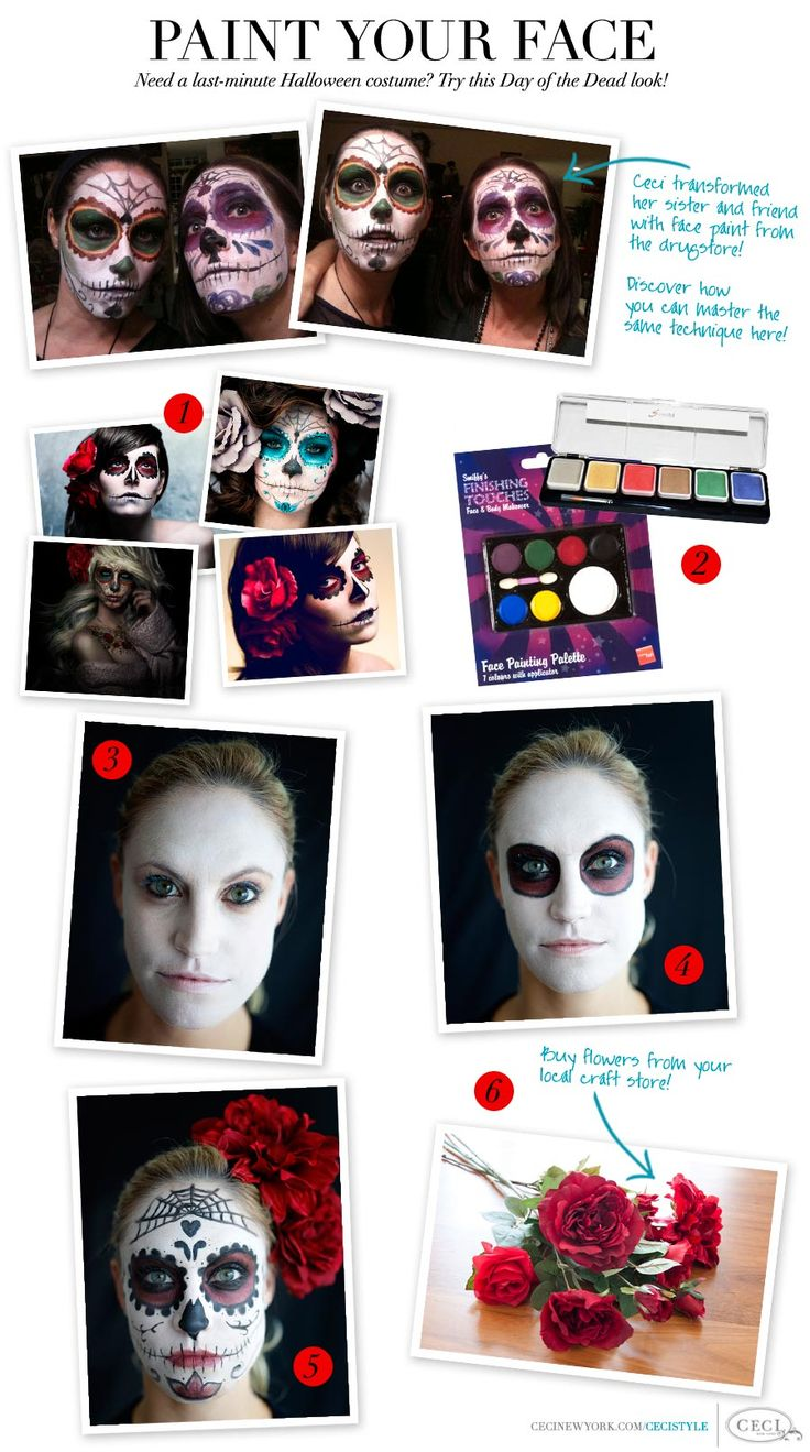 43 best DIY Day of the Dead Dia de los Muertos Costume & Makeup ...