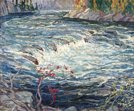 """Sackville River,"" Arthur Lismer, 1917, oil on canvas, Art Gallery of Nova Scotia."