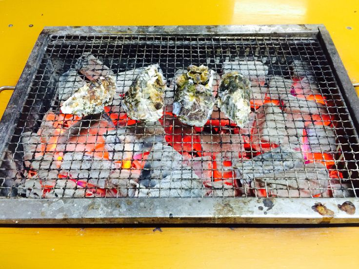 Miyajma-from oysters farm straight to the hot coal