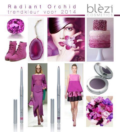 Radiant Orchid is dé trendkleur voor 2014! De kleur bestaat uit een combinatie van fuchsia, paars en roze en staat symbool voor blijdschap, liefde en gezondheid. Een draagbare, chique make-upkleur voor op je ogen en/of lippen. Voor iedere gelegenheid staat de kleur schitterend!
