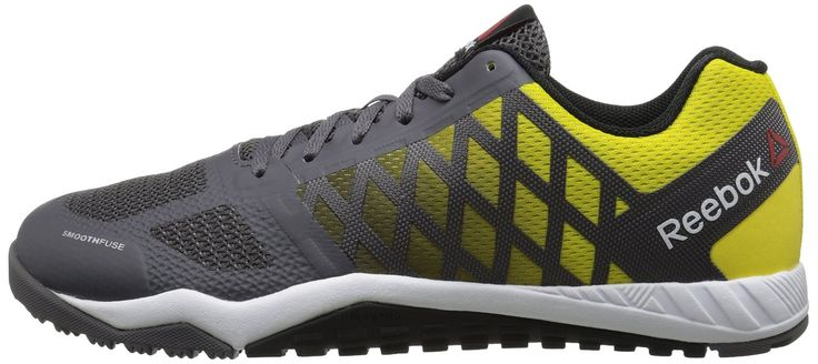 Reebok Men's Ros Workout TR Training Shoe, Ash Grey/Yellow/Spark/Black/White, 9.5 M US