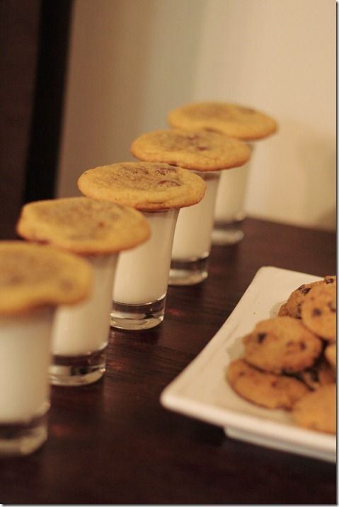 Milk and cookie testing party for Santa