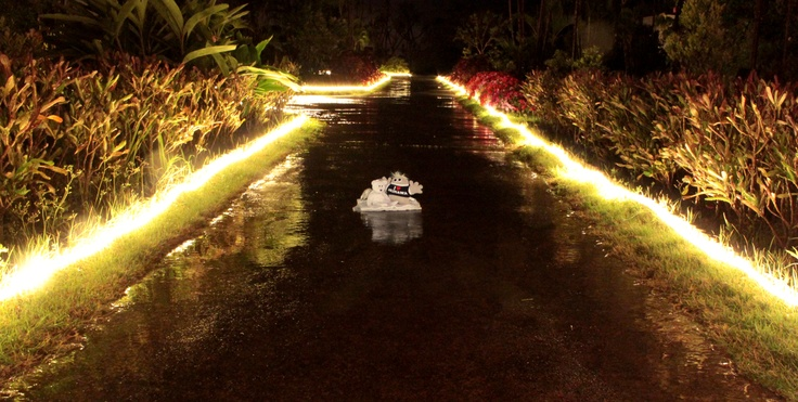 The Canna Resort Villa Okinawa garden is really nice at night. Watch out for the crocodiles!