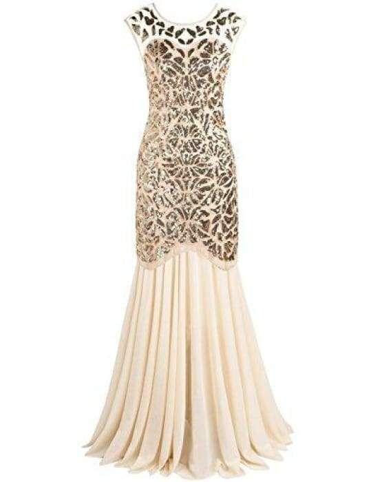 a5891ffda7 Women S Cheap Fashion Clothing. 1920s Black Sequin Gatsby Maxi Long Evening  Prom Dress