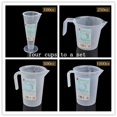 BAKEST Kitchen Measuring Tools Plastic Measuring Cup Four Cups To A Set meal