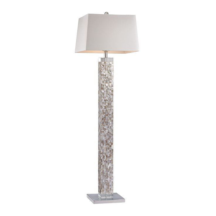 Mirror crystal floor lamp