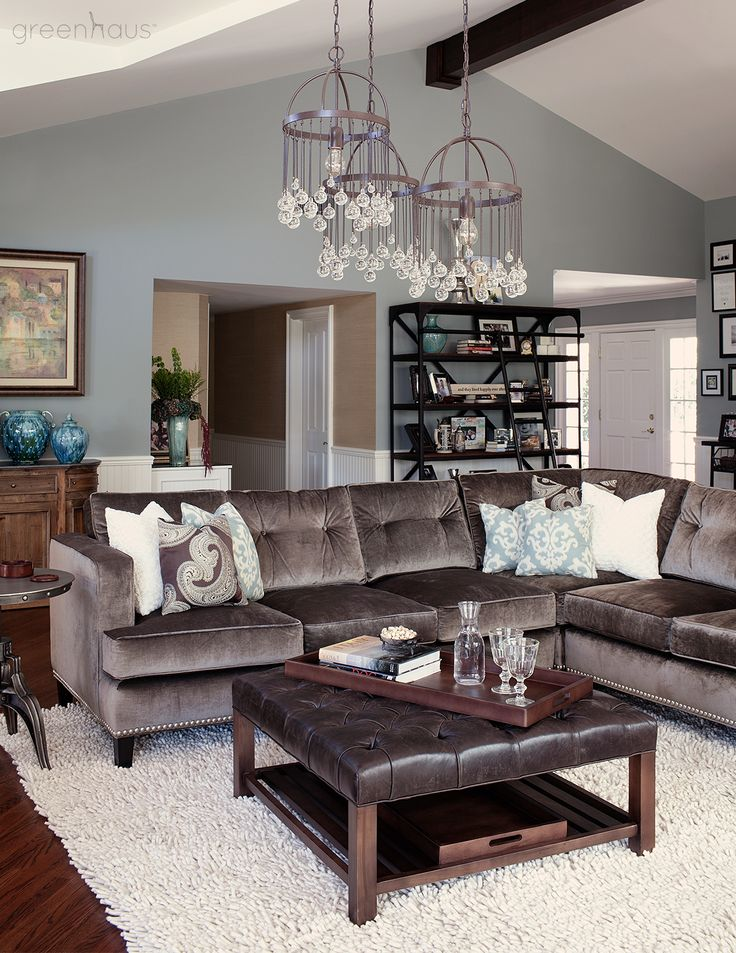 Beverley mitchells la living room fully suited in our furnishings featuring the flanders sofa