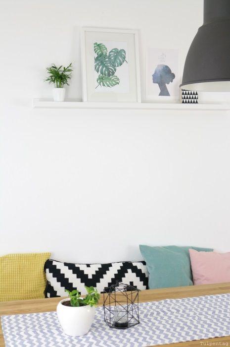 esszimmer essecke poster dschungel jungle pflanzen deko