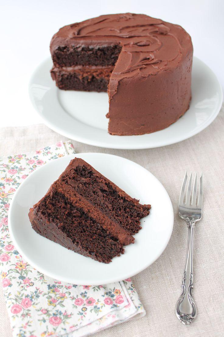 Vermont Creamery recipe for dense chocolate cake  #butter