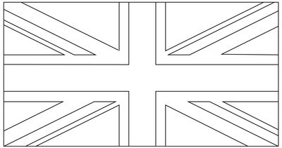 Union Jack template for bunting...