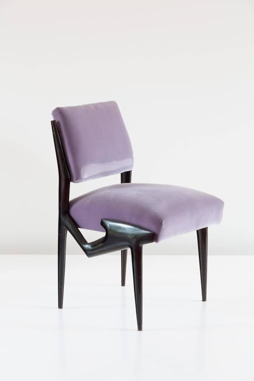 Important And Unique Set Of Eight Ico Parisi Dining Chairs, 1950 2