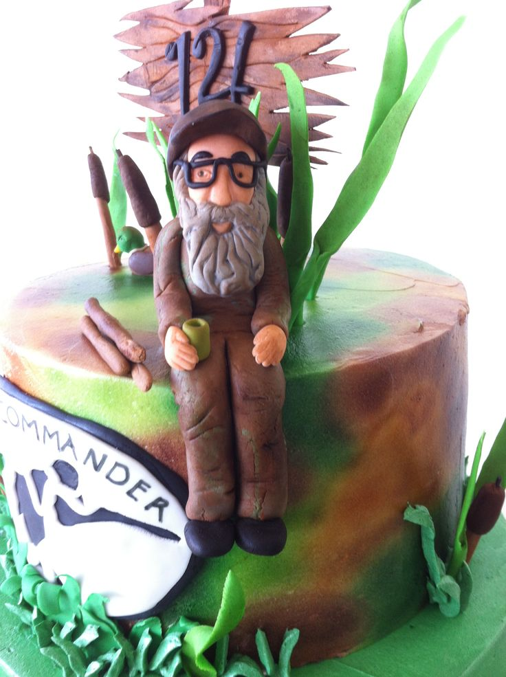 Sugar work for duck dynasty cake