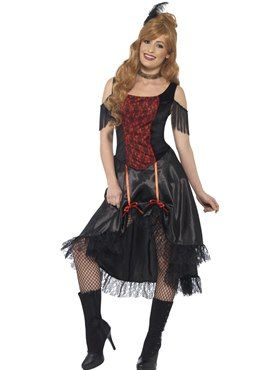 Adult Saloon Girl Costume by Fancy Dress Ball