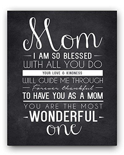 Mom Quote Chalkboard Wall Art Print the perfect Mothers Day Gift or Gift for Mom