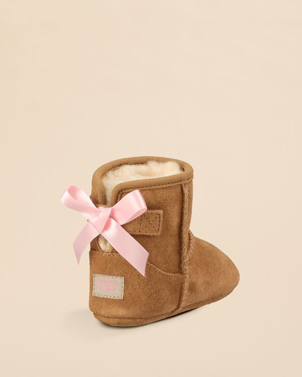 UGG® Australia Infant Girls' Jesse Bow Suede Booties - Baby, Walker | Bloomingdale's