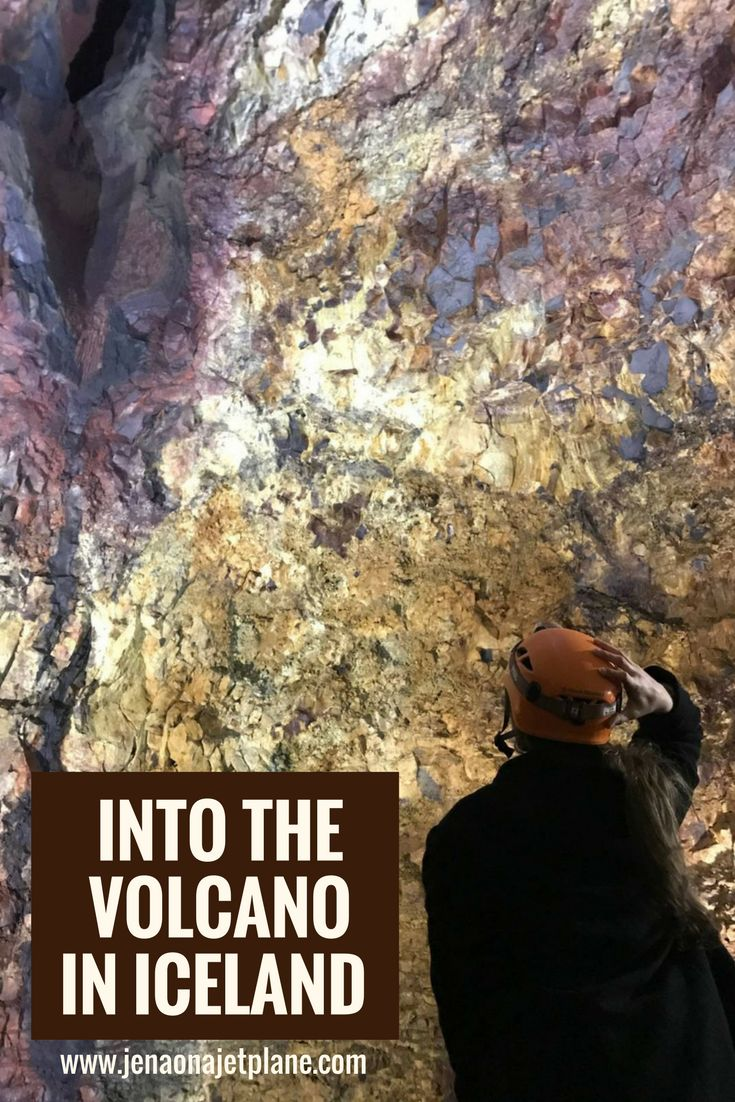 The Thrihnukagigur volcano in Iceland is a bucket list item. It is the only place in the world where you can enter a preserved magma chamber. Go inside a dormant volcano as part of your ultimate Iceland bucket list. Don't miss this adventure when in Iceland, save to your travel board for inspiration.