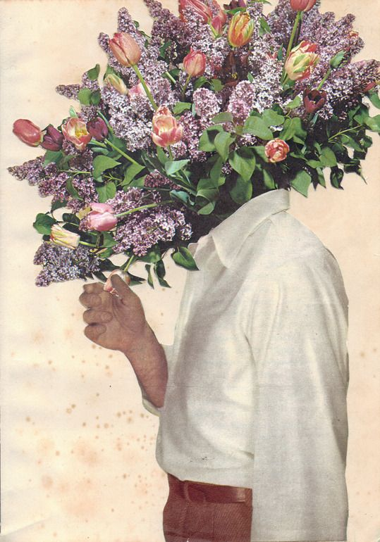 "Saatchi Online Artist: Joe Webb; Photomontage, 2012, Assemblage / Collage ""Say It With Flowers"" #art"