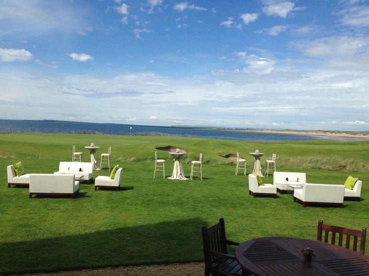 Outdoor drinks reception at a private party, with stunning ocean view. Visit www.gotchacovered.ie for more.