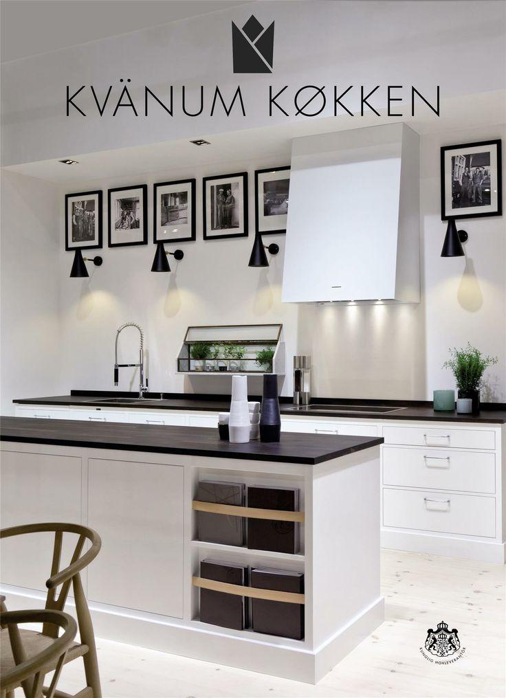 Black & white kitchen iBoligen.dk - Kvanum køkken, Se Kvänum køkkenkatalog her med snedkerkøkkerner.