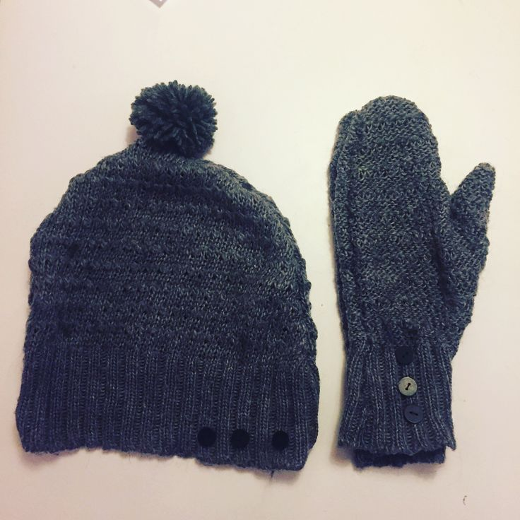 From sweater to mittens and hat