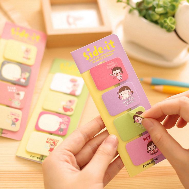 Cute Post It Bookmark Cartoon Sticky Memo Paper Stickers Bookmark Little Lucky Beer  Red Riding Hood Biscuits Girl Memo Pad